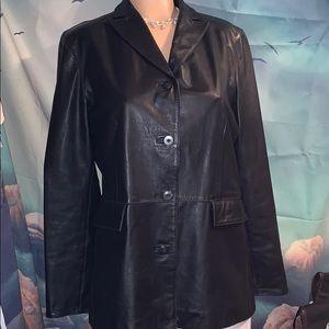 Gap women's medium Leather jacket.  Black